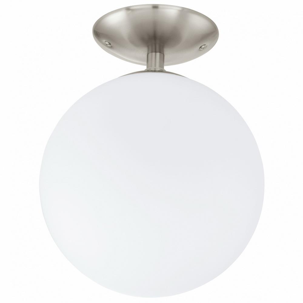 Светильник настенно-потолочный EgloСветильники настенно-потолочные<br>Мощность: 60,<br>Количество ламп: 1,<br>Назначение светильника: для комнаты,<br>Стиль светильника: модерн,<br>Материал светильника: металл, стекло,<br>Тип лампы: накаливания,<br>Длина (мм): 315,<br>Диаметр: 250,<br>Патрон: Е27,<br>Цвет арматуры: матовый никель,<br>Вес нетто: 1.014<br>