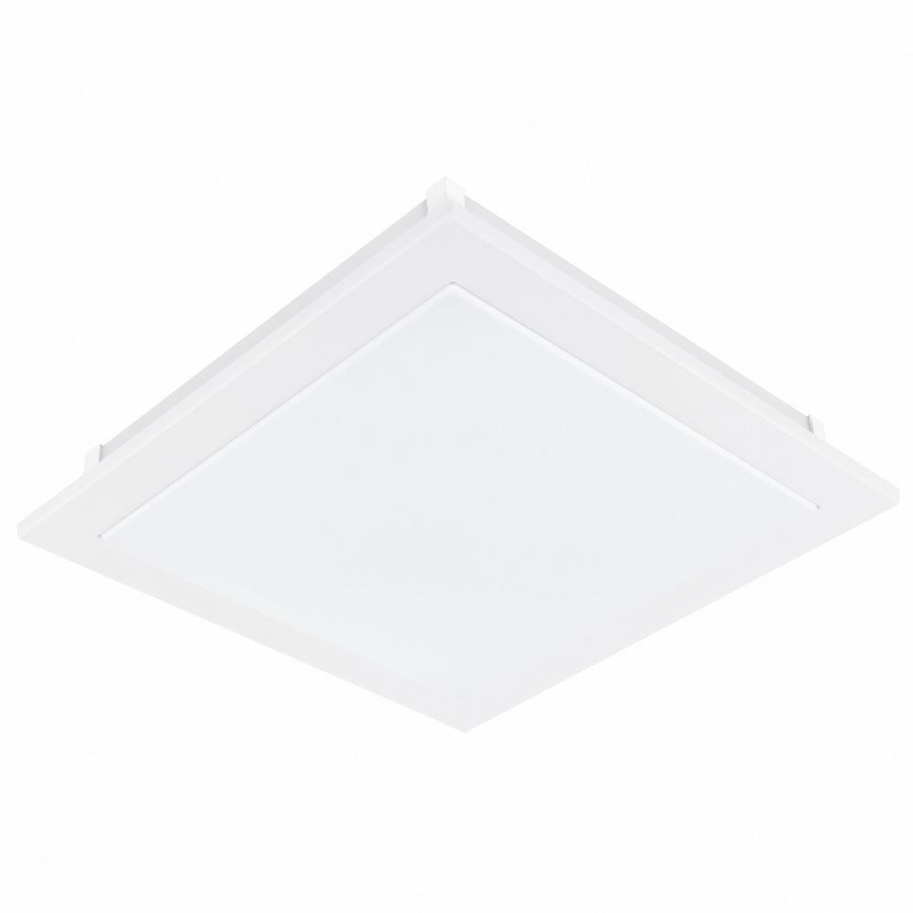 Светильник настенно-потолочный EgloСветильники настенно-потолочные<br>Мощность: 18,<br>Назначение светильника: для комнаты,<br>Стиль светильника: модерн,<br>Материал светильника: металл, пластик, стекло,<br>Тип лампы: светодиодная,<br>Длина (мм): 385,<br>Ширина: 385,<br>Патрон: LED,<br>Цвет арматуры: белый,<br>Вес нетто: 2.636<br>