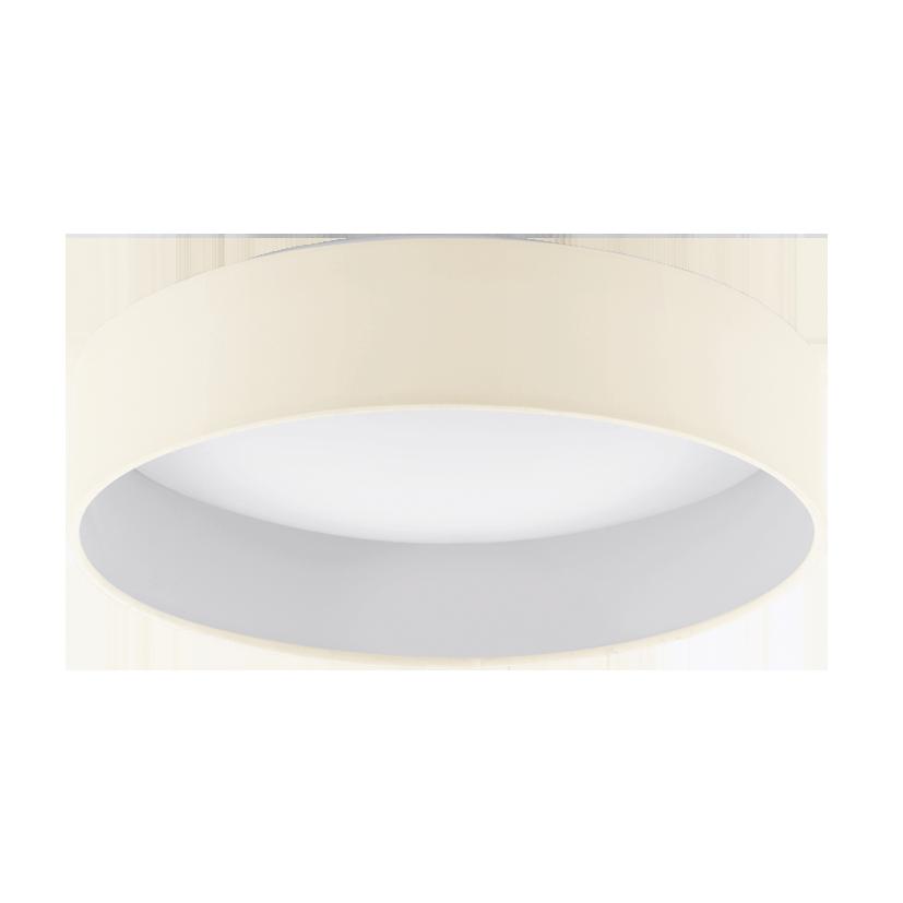 Светильник настенно-потолочный EgloСветильники настенно-потолочные<br>Мощность: 18,<br>Назначение светильника: для комнаты,<br>Стиль светильника: модерн,<br>Материал светильника: пластик, ткань,<br>Тип лампы: светодиодная,<br>Длина (мм): 100,<br>Диаметр: 405,<br>Патрон: LED,<br>Цвет арматуры: белый,<br>Вес нетто: 1.369<br>