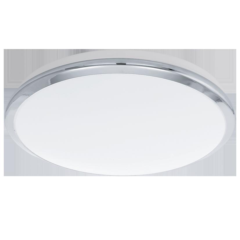 Светильник настенно-потолочный EgloСветильники настенно-потолочные<br>Мощность: 18,<br>Назначение светильника: для комнаты,<br>Стиль светильника: модерн,<br>Материал светильника: металл, пластик, стекло,<br>Тип лампы: светодиодная,<br>Диаметр: 385,<br>Патрон: LED,<br>Цвет арматуры: хром,<br>Вес нетто: 1.13<br>