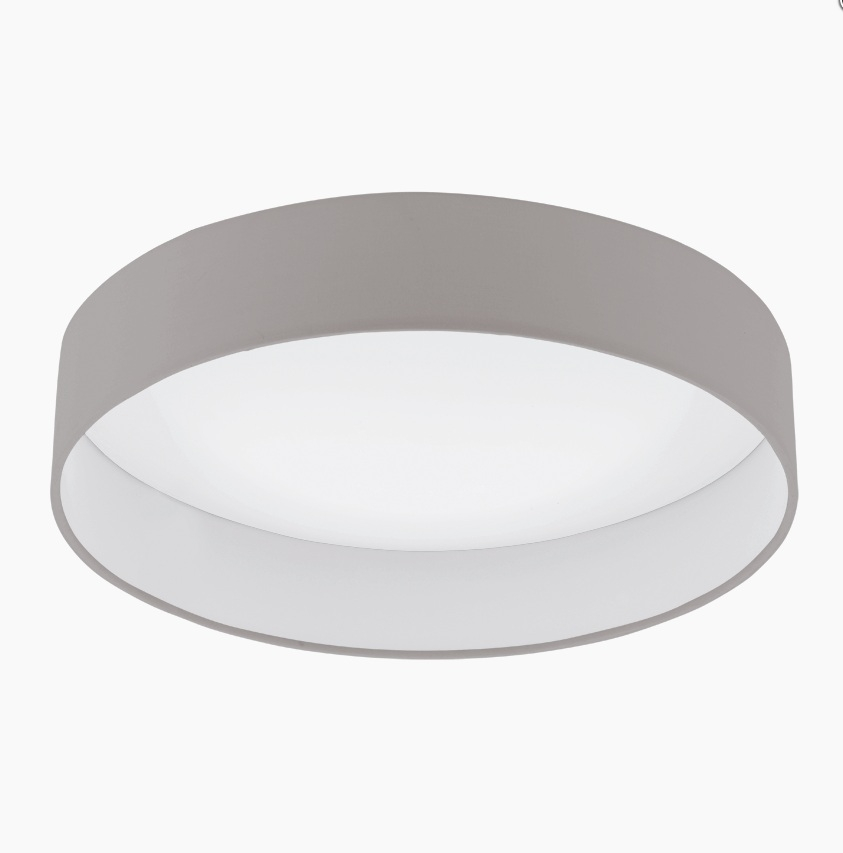 Светильник настенно-потолочный EgloСветильники настенно-потолочные<br>Мощность: 24,<br>Назначение светильника: для комнаты,<br>Стиль светильника: модерн,<br>Материал светильника: пластик, ткань,<br>Тип лампы: светодиодная,<br>Длина (мм): 110,<br>Диаметр: 500,<br>Патрон: LED,<br>Цвет арматуры: белый,<br>Вес нетто: 1.869<br>