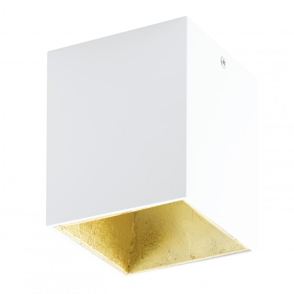 Светильник настенно-потолочный EgloСветильники настенно-потолочные<br>Мощность: 3.3,<br>Количество ламп: 1,<br>Назначение светильника: для комнаты,<br>Стиль светильника: хай-тек,<br>Материал светильника: металл, пластик, стекло,<br>Тип лампы: светодиодная,<br>Длина (мм): 100,<br>Ширина: 100,<br>Высота: 120,<br>Патрон: LED,<br>Цвет арматуры: золото,<br>Вес нетто: 0.62<br>