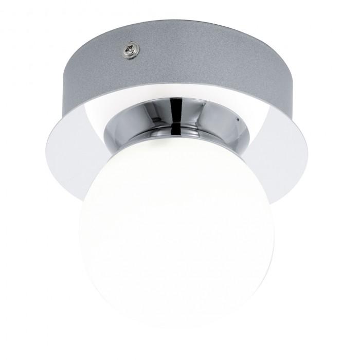 Светильник настенно-потолочный EgloСветильники настенно-потолочные<br>Мощность: 3.3,<br>Количество ламп: 1,<br>Назначение светильника: для комнаты,<br>Стиль светильника: модерн,<br>Материал светильника: металл, стекло,<br>Тип лампы: светодиодная,<br>Длина (мм): 115,<br>Диаметр: 110,<br>Патрон: LED,<br>Цвет арматуры: хром,<br>Вес нетто: 0.45<br>