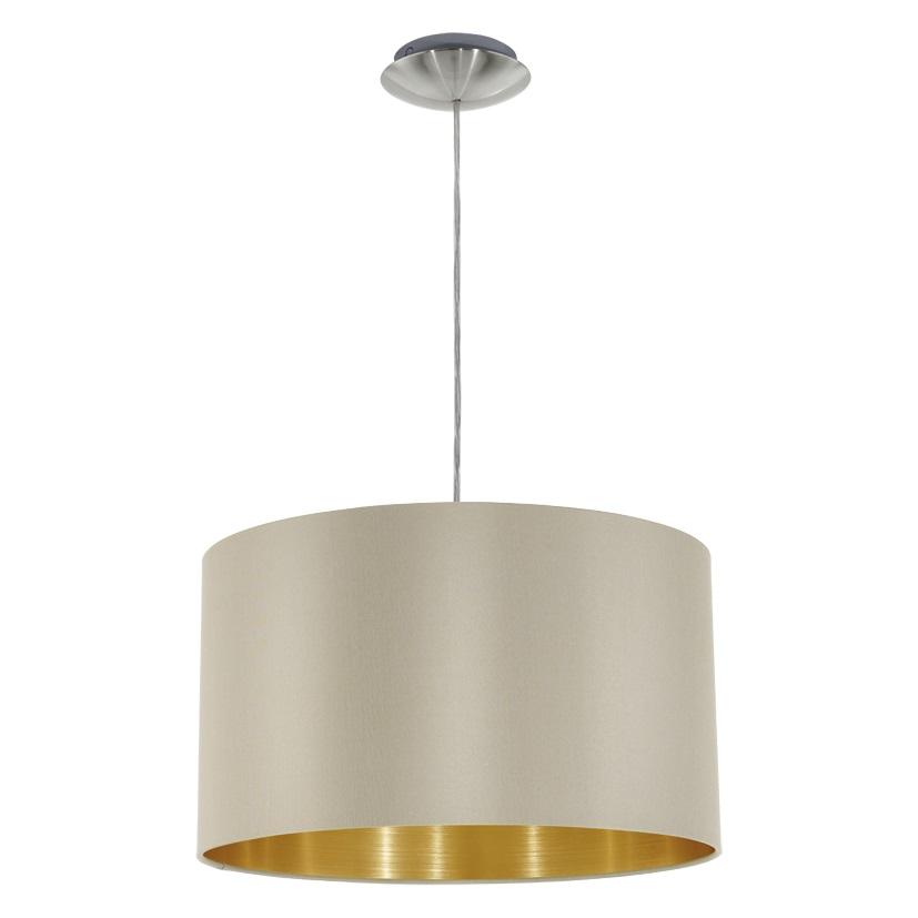 Подвес EgloСветильники подвесные<br>Количество ламп: 1,<br>Мощность: 60,<br>Назначение светильника: подвесной,<br>Стиль светильника: модерн,<br>Материал светильника: металл,<br>Диаметр: 380,<br>Высота: 1100,<br>Тип лампы: накаливания,<br>Патрон: Е27,<br>Цвет арматуры: никель,<br>Вес нетто: 0.6<br>