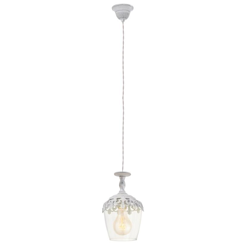 Подвес EgloСветильники подвесные<br>Количество ламп: 1,<br>Мощность: 60,<br>Назначение светильника: подвесной,<br>Стиль светильника: модерн,<br>Материал светильника: металл,<br>Диаметр: 170,<br>Высота: 1100,<br>Тип лампы: накаливания,<br>Патрон: Е27,<br>Цвет арматуры: белый,<br>Вес нетто: 0.574<br>