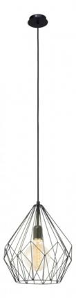 Подвес EgloСветильники подвесные<br>Количество ламп: 1,<br>Мощность: 60,<br>Назначение светильника: подвесной,<br>Стиль светильника: модерн,<br>Материал светильника: металл,<br>Диаметр: 310,<br>Высота: 1100,<br>Тип лампы: накаливания,<br>Патрон: Е27,<br>Цвет арматуры: черный,<br>Вес нетто: 0.922<br>