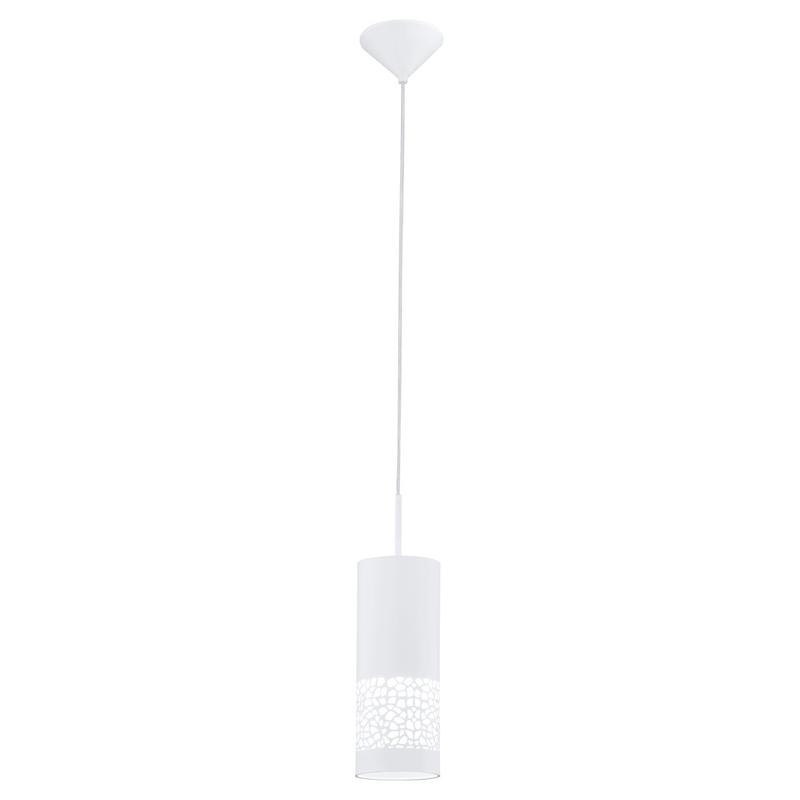 Светильник подвесной EgloСветильники подвесные<br>Количество ламп: 1, Мощность: 60, Назначение светильника: подвесной, Стиль светильника: модерн, Материал светильника: металл, пластик, Диаметр: 110, Высота: 1100, Тип лампы: накаливания, Патрон: Е27, Цвет арматуры: белый, Вес нетто: 0.74<br>