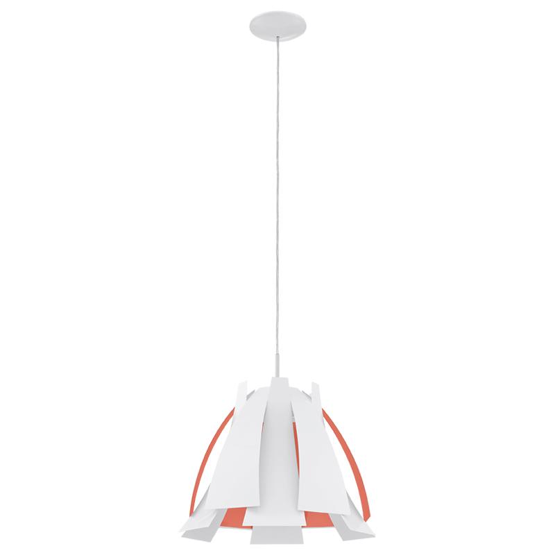 Светильник подвесной EgloСветильники подвесные<br>Количество ламп: 1,<br>Мощность: 60,<br>Назначение светильника: подвесной,<br>Стиль светильника: модерн,<br>Материал светильника: металл,<br>Диаметр: 435,<br>Высота: 1100,<br>Тип лампы: накаливания,<br>Патрон: Е27,<br>Цвет арматуры: белый,<br>Вес нетто: 2.344<br>