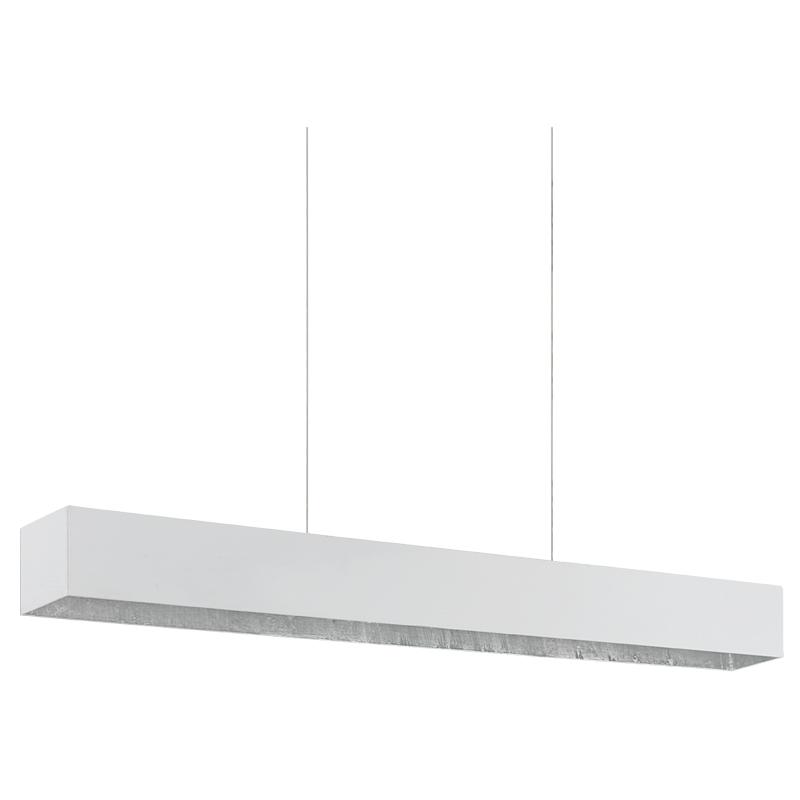 Светильник подвесной EgloСветильники подвесные<br>Количество ламп: 2,<br>Мощность: 6,<br>Назначение светильника: подвесной,<br>Стиль светильника: модерн,<br>Материал светильника: металл,<br>Высота: 1100,<br>Длина (мм): 680,<br>Ширина: 60,<br>Тип лампы: светодиодная,<br>Патрон: LED,<br>Цвет арматуры: белый,<br>Вес нетто: 1.958<br>
