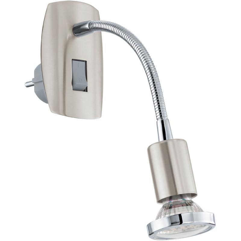 Спот EgloСпоты<br>Тип: спот,<br>Стиль светильника: модерн,<br>Материал светильника: металл,<br>Количество ламп: 1,<br>Тип лампы: галогенная,<br>Мощность: 3,<br>Патрон: GU10,<br>Цвет арматуры: никель,<br>Ширина: 70,<br>Длина (мм): 180,<br>Вес нетто: 0.175<br>
