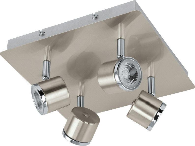 Спот EgloСпоты<br>Тип: спот,<br>Стиль светильника: модерн,<br>Материал светильника: металл,<br>Количество ламп: 4,<br>Тип лампы: светодиодная,<br>Мощность: 5,<br>Патрон: LED,<br>Цвет арматуры: никель,<br>Ширина: 260,<br>Длина (мм): 240,<br>Вес нетто: 1.721<br>