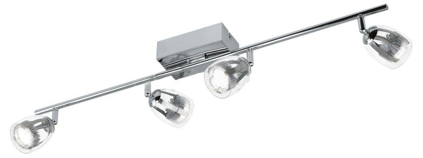 Спот EgloСпоты<br>Тип: спот, Стиль светильника: модерн, Материал светильника: металл, Количество ламп: 4, Тип лампы: светодиодная, Мощность: 4.5, Патрон: LED, Цвет арматуры: хром, Ширина: 70, Длина (мм): 580, Вес нетто: 0.867<br>