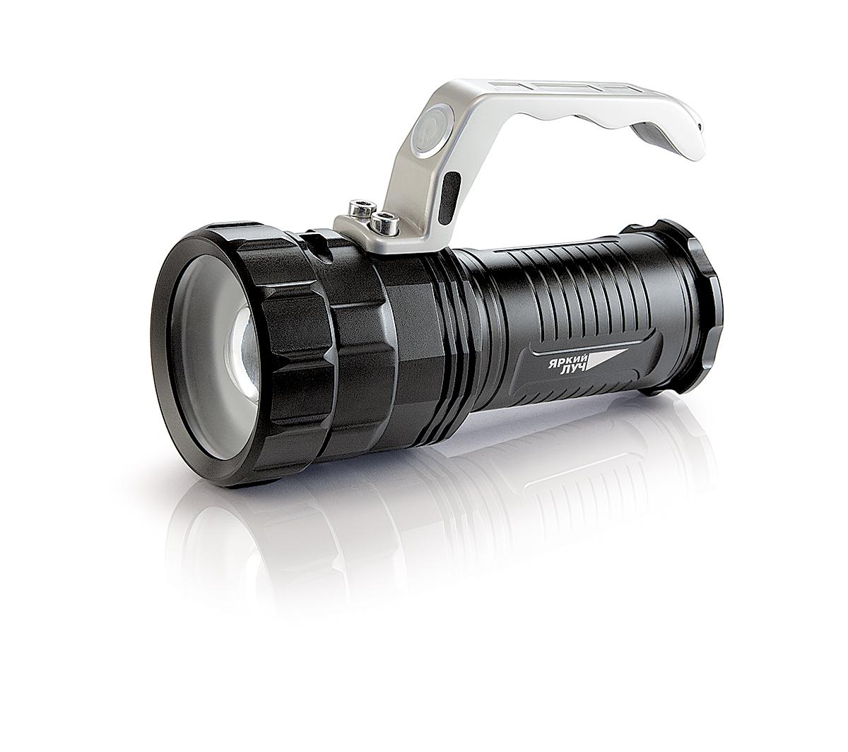 Фонарь ЯРКИЙ ЛУЧФонари<br>Источники питания: аккумулятор, Тип аккумулятора: LiION, Тип лампы: светодиодная, Тип: ручной<br>