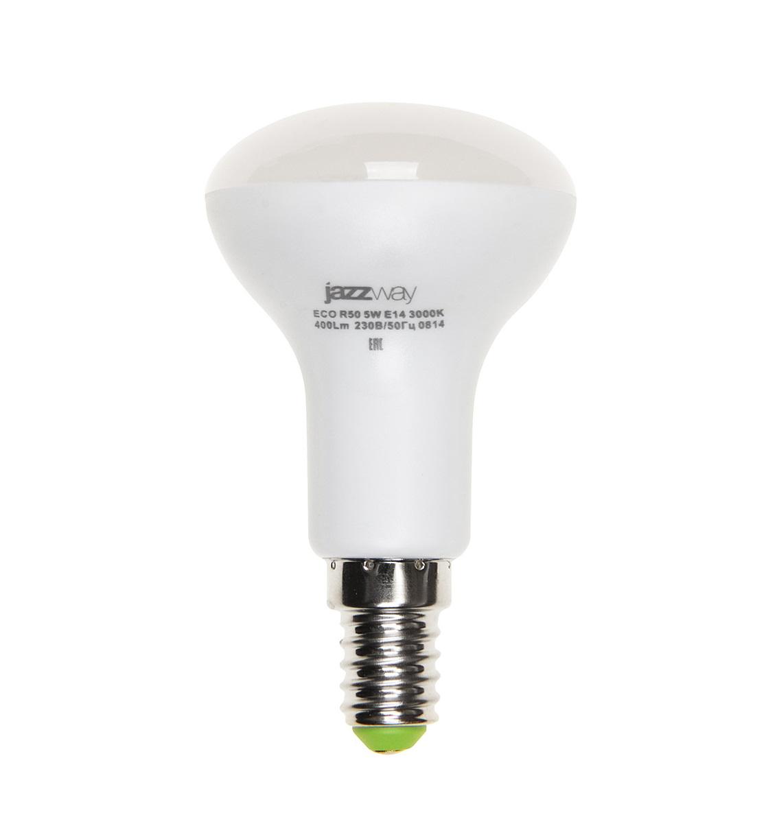 Лампа светодиодная JazzwayЛампы<br>Тип лампы: светодиодная,<br>Форма лампы: груша,<br>Цвет колбы: белая,<br>Тип цоколя: Е14,<br>Напряжение: 220,<br>Мощность: 5,<br>Цветовая температура: 3000,<br>Цвет свечения: нейтральный<br>