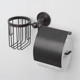 Держатель для туалетной бумаги WasserkraftДержатели для ванной комнаты<br>Назначение: для туалетной бумаги,<br>Цвет покрытия: хром,<br>Материал: металл,<br>Способ крепления: на стену,<br>Высота: 155,<br>Ширина: 260,<br>Глубина: 114<br>