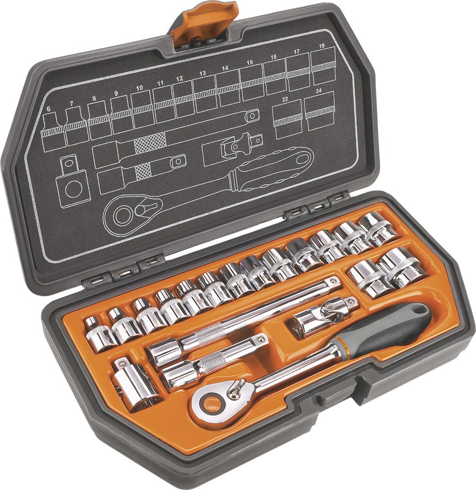 Набор головок NeoКлючи торцевые<br>Набор: есть,<br>Ключей в наборе: 20,<br>Посадочный размер: 3/8  ,<br>Тип набора: набор головок<br>