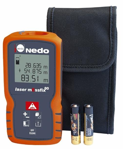 Дальномер NedoДальномеры<br>Дальность: 80,<br>Точность: ±1.5мм,<br>Тип: лазерный,<br>Длина волны: 635,<br>Класс лазера: 2,<br>Источники питания: AAA<br>