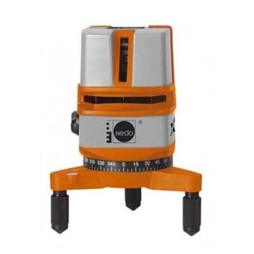 Уровень NedoУровни лазерные<br>Тип устройства: уровень,<br>Дальность: 25,<br>Количество лучей: 2,<br>Выравнивание: ручное,<br>Угол самовыравнивания: ± 4,<br>Класс лазера: 2,<br>Длина волны: 680,<br>Источники питания: AA<br>