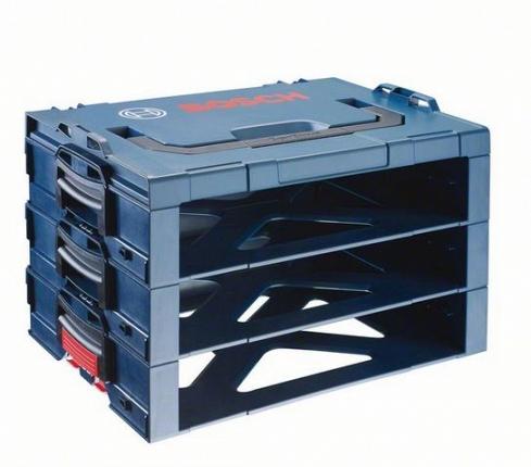 Ящик для инструментов BoschЯщики и кейсы<br>Назначение: для ручного инструмента,<br>Форм-фактор: ящик(кейс),<br>Длина (мм): 442,<br>Ширина: 356,<br>Высота: 342<br>