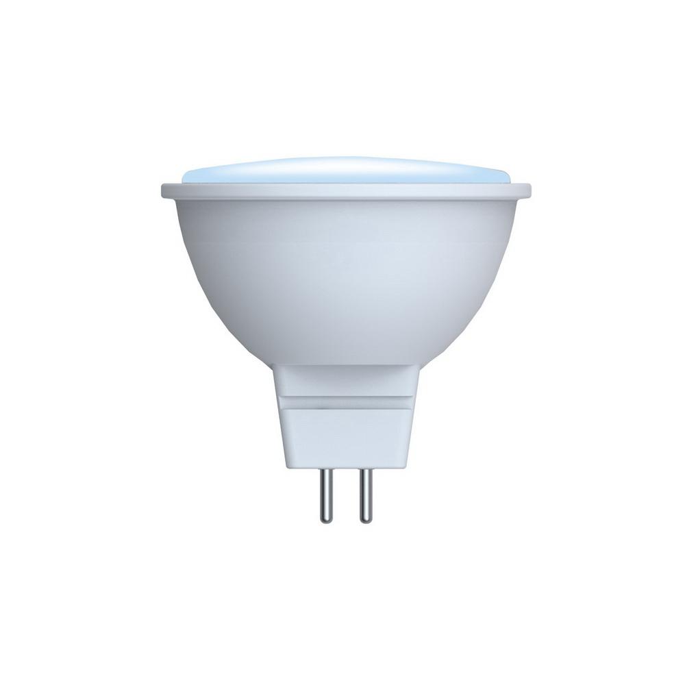 Лампа светодиодная VolpeЛампы<br>Тип лампы: светодиодная,<br>Форма лампы: рефлекторная,<br>Цвет колбы: голубой,<br>Тип цоколя: GU5.3,<br>Напряжение: 220,<br>Мощность: 5,<br>Цветовая температура: 6000,<br>Цвет свечения: холодный,<br>Диммируемая: есть<br>