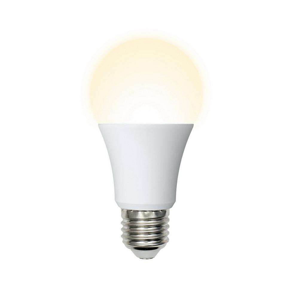 Лампа светодиодная VolpeЛампы<br>Тип лампы: светодиодная,<br>Форма лампы: груша,<br>Цвет колбы: белая,<br>Тип цоколя: Е27,<br>Напряжение: 220,<br>Мощность: 8,<br>Цветовая температура: 2700,<br>Цвет свечения: теплый<br>