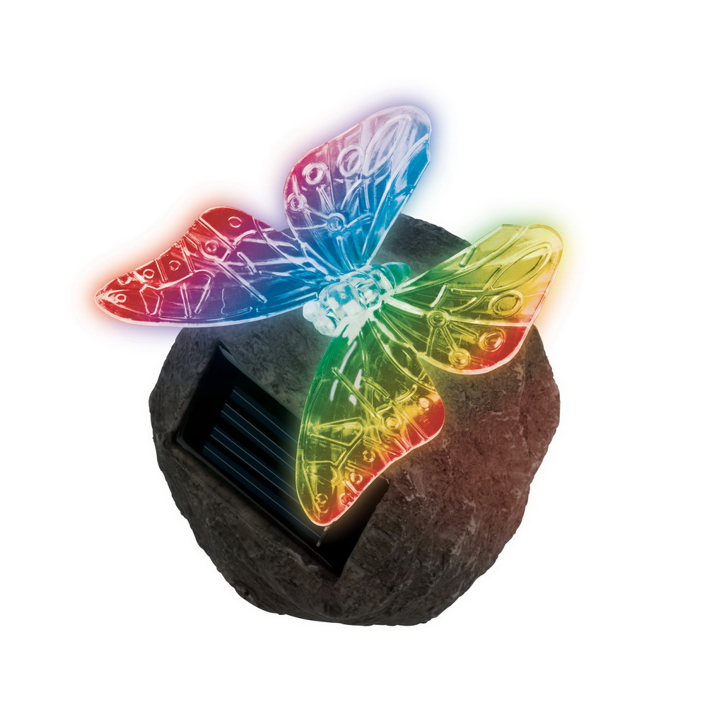 Светильник уличный UnielСветильники на солнечных батареях<br>Тип установки: на землю/пол, Форма светильника: насекомые, Материал светильника: пластик, Цвет арматуры: коричневый<br>
