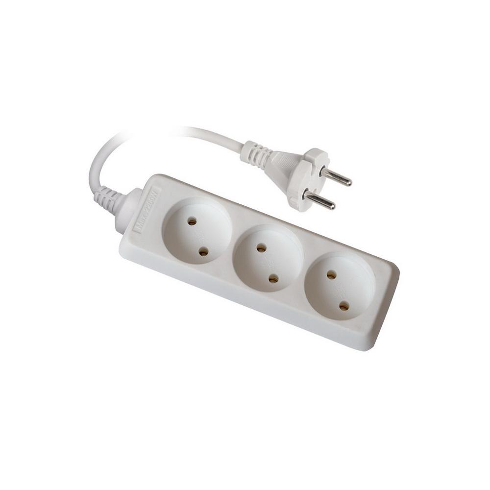 Удлинитель UnielУдлинители и сетевые фильтры<br>Количество гнезд: 3,<br>Заземление: нет,<br>Тип удлинителя: удлинитель,<br>Марка кабеля: ПВС,<br>Длина (м): 10,<br>Выключатель: нет,<br>Цвет: белый,<br>Шторки: нет,<br>Наличие катушки: нет,<br>USB порт: нет,<br>Автоматическое сматывание кабеля: нет,<br>Степень защиты от пыли и влаги: IP 20<br>