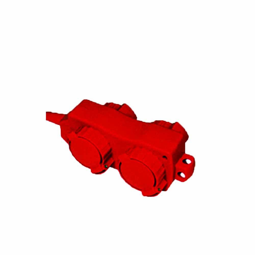 Удлинитель ТДМ Уз16-02/02 с крышками ip44. 4 места/20м