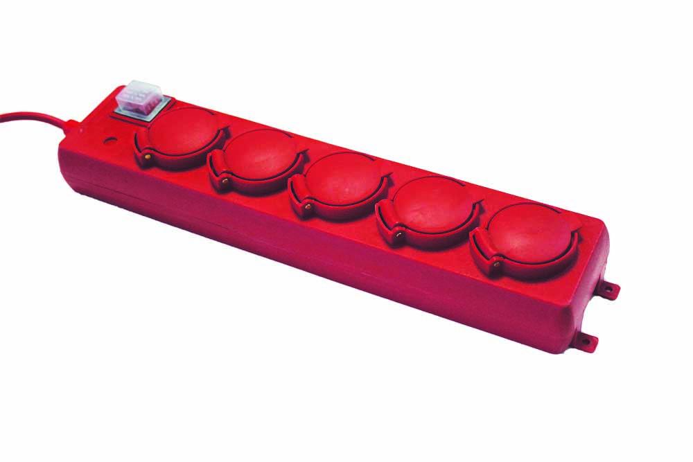 Удлинитель ТДМ Уз16-05В с крышками ip44 5 мест/5м ПВС 3х1.0