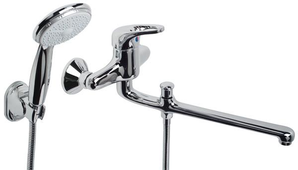 Смеситель КИТСмесители<br>Назначение смесителя: для ванны,<br>Тип управления смесителя: однорычажный,<br>Цвет покрытия: хром,<br>Стиль смесителя: модерн,<br>Монтаж смесителя: вертикальный,<br>Материал смесителя: латунь,<br>Излив: традиционный,<br>Родина бренда: Россия<br>