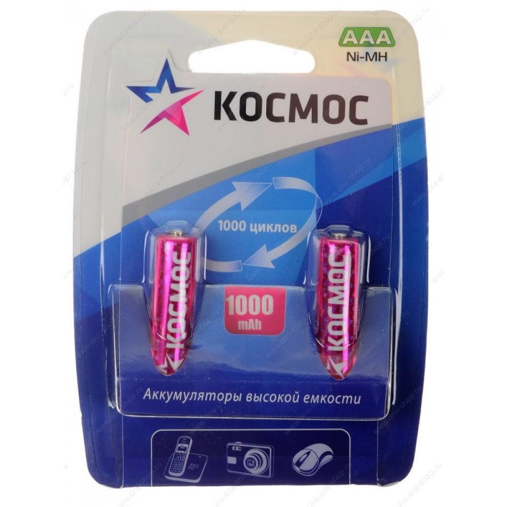 Аккумулятор КОСМОСБатарейки, аккумуляторы и зарядные устройства<br>Напряжение: 1.5, Емкость аккумулятора: 1, Тип: R03, Тип аккумулятора: NiMH, Вид: аккумулятор, Количество в упаковке: 2<br>