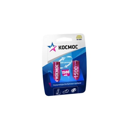 Аккумулятор КОСМОСБатарейки, аккумуляторы и зарядные устройства<br>Напряжение: 1.5,<br>Емкость аккумулятора: 1.5,<br>Тип: R6,<br>Тип аккумулятора: NiMH,<br>Вид: аккумулятор,<br>Количество в упаковке: 2<br>