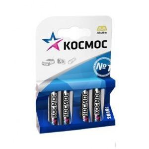 Батарейка КОСМОСБатарейки, аккумуляторы и зарядные устройства<br>Напряжение: 1.5,<br>Тип: LR6,<br>Вид: батарейка,<br>Количество в упаковке: 4<br>