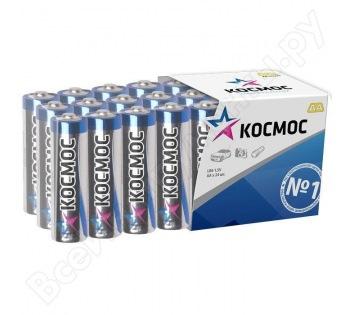 Батарейка КОСМОСБатарейки, аккумуляторы и зарядные устройства<br>Напряжение: 1.5,<br>Тип: LR6,<br>Вид: батарейка,<br>Количество в упаковке: 24<br>
