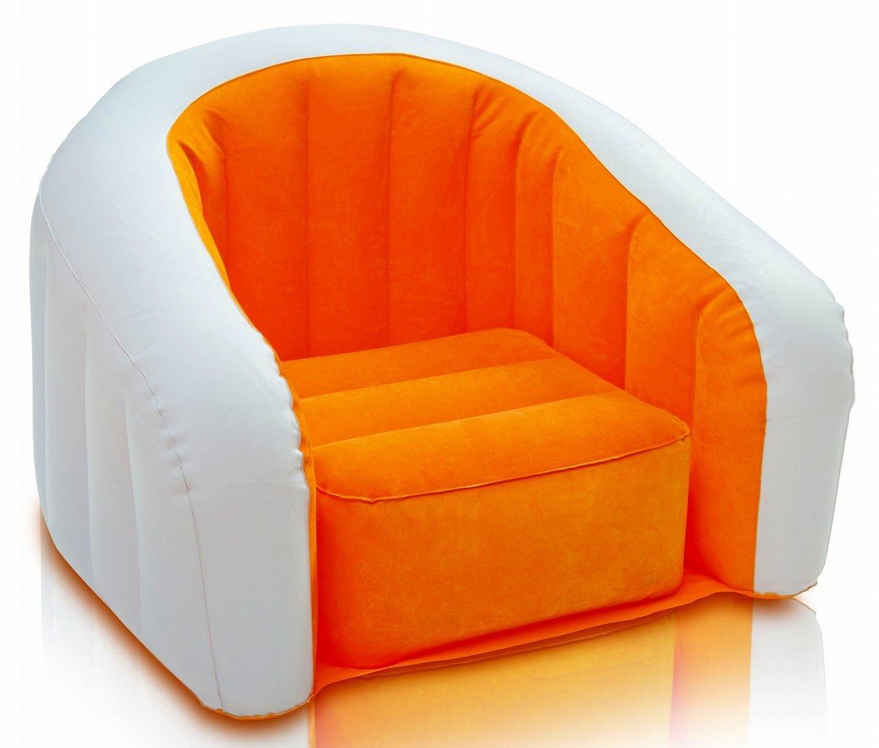 Кресло IntexМатрасы надувные<br>Тип: кресло,<br>Назначение: для дома и офиса,<br>Размеры: 690х560х480,<br>Длина (мм): 690,<br>Ширина: 560,<br>Высота: 480,<br>Цвет: оранжевый,<br>Количество мест: 1<br>