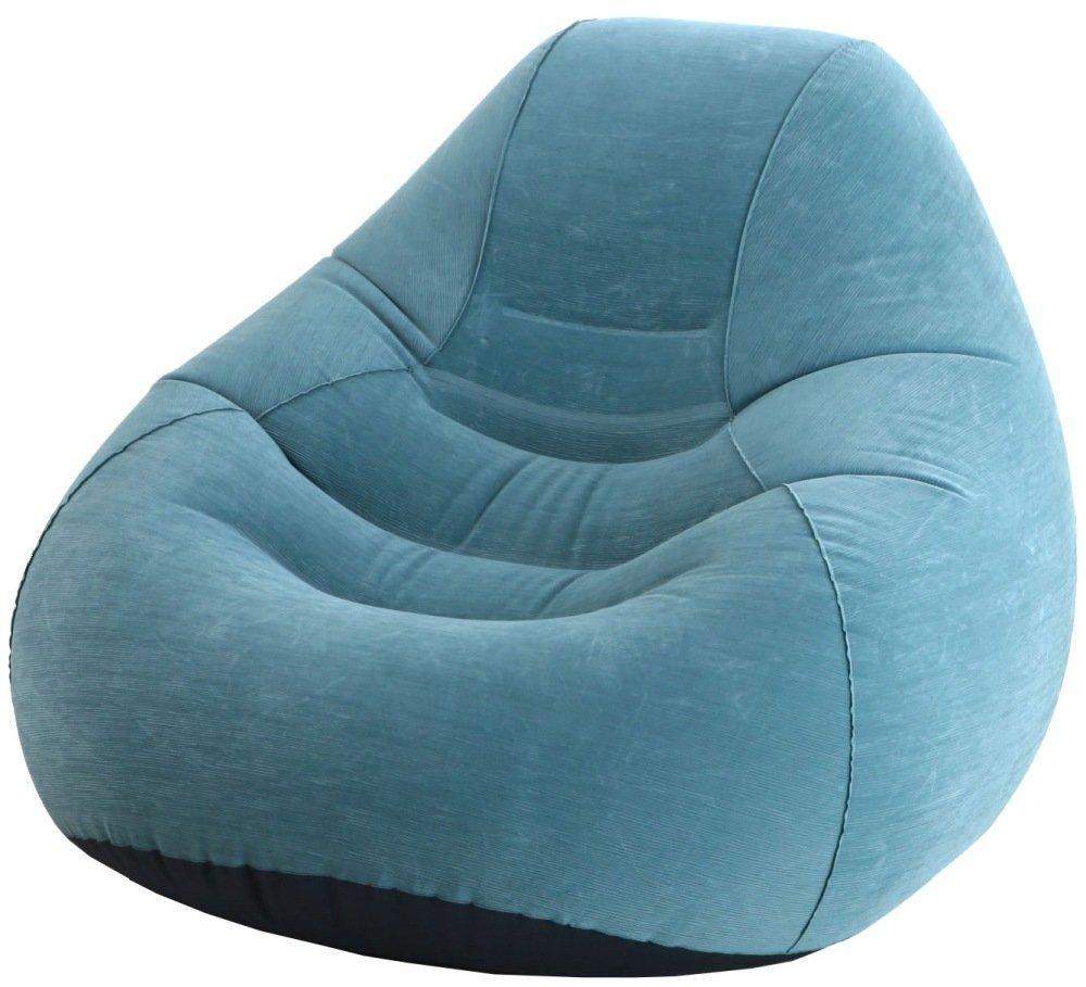 Кресло IntexМатрасы надувные<br>Тип: кресло, Назначение: для дома и офиса, Размеры: 1220х1270х810, Длина (мм): 1220, Ширина: 1270, Высота: 810, Цвет: голубой, Количество мест: 1<br>