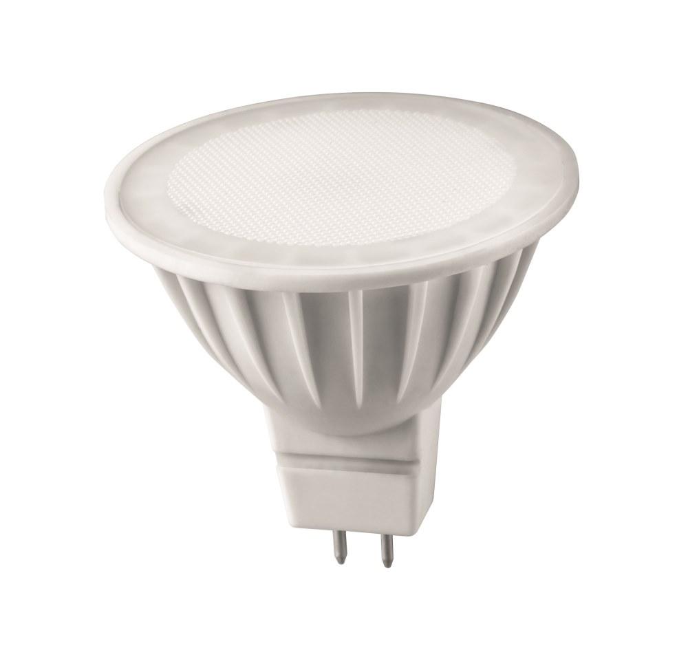 Лампа светодиодная ОНЛАЙТЛампы<br>Тип лампы: светодиодная,<br>Форма лампы: рефлекторная,<br>Цвет колбы: белая,<br>Тип цоколя: GU5.3,<br>Напряжение: 220,<br>Мощность: 5,<br>Цветовая температура: 3000,<br>Цвет свечения: теплый<br>