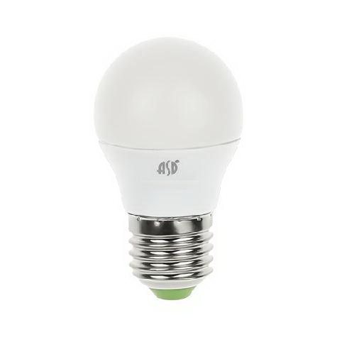 Лампа светодиодная AsdЛампы<br>Тип лампы: светодиодная, Форма лампы: шар, Цвет колбы: прозрачная, Тип цоколя: Е27, Напряжение: 220, Мощность: 5, Цветовая температура: 3000, Цвет свечения: теплый<br>