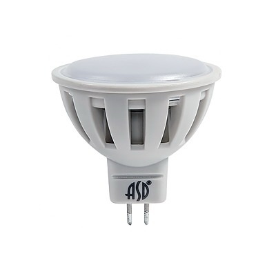 Лампа светодиодная Asd Led-jcdr-standard 5.5Вт gu5.3 3000К 220В