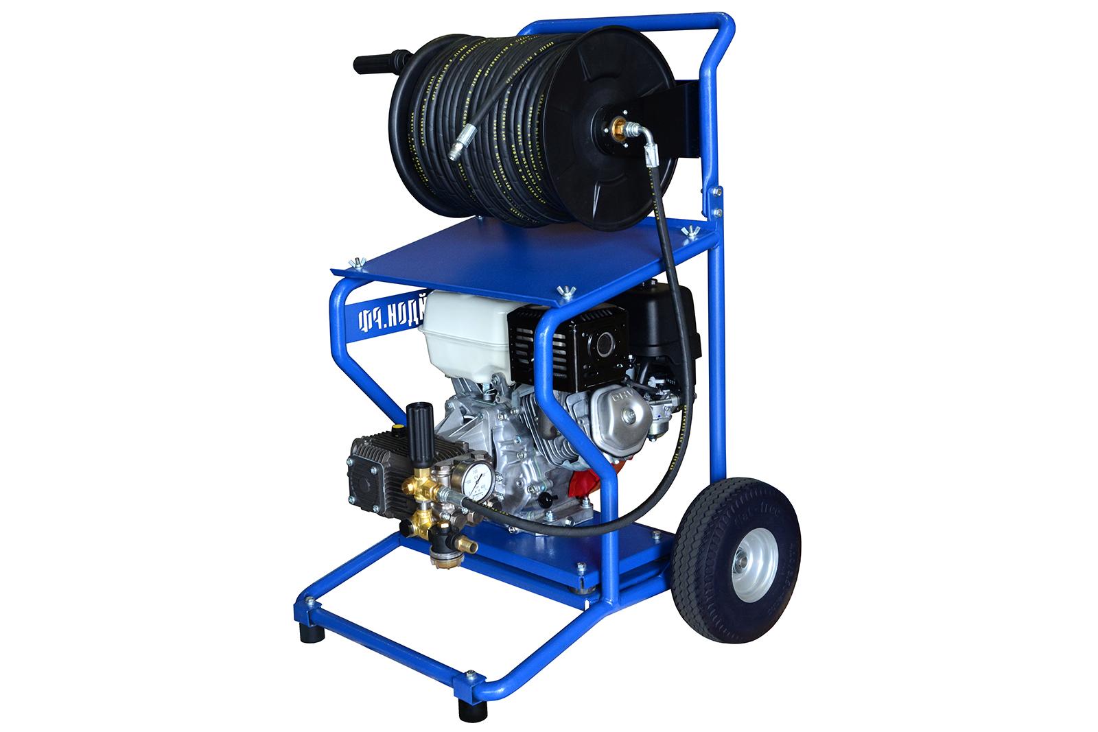 Мойка высокого давления ПОСЕЙДОНПрочистное оборудование<br>Тип прочистного оборудования: прочистная машина,<br>Тип двигателя: бензиновый,<br>Длина шланга: 60<br>