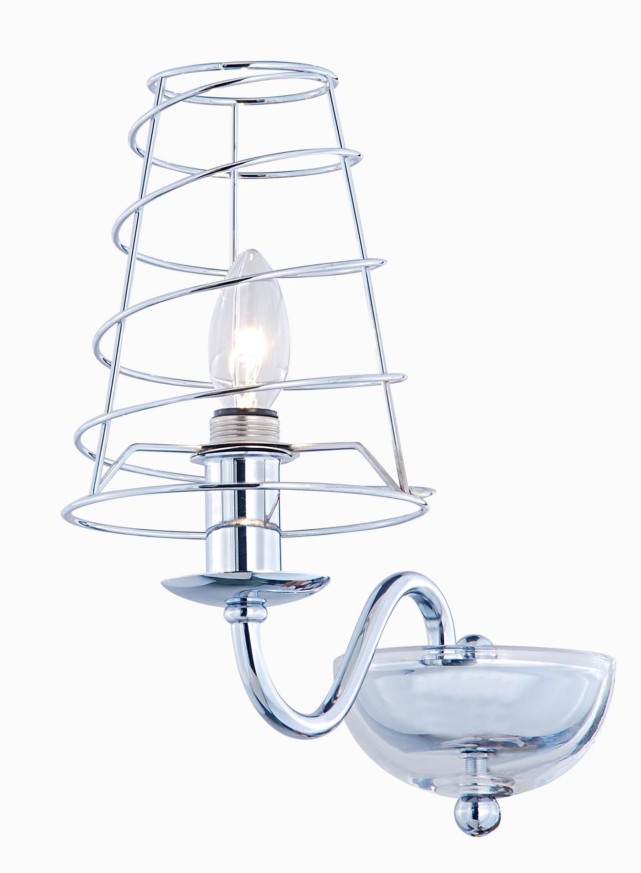 Бра Arte lampНастенные светильники и бра<br>Тип: бра,<br>Назначение светильника: для комнаты,<br>Стиль светильника: модерн,<br>Материал светильника: металл, стекло,<br>Тип лампы: накаливания,<br>Количество ламп: 1,<br>Мощность: 40,<br>Патрон: Е14,<br>Цвет арматуры: хром,<br>Длина (мм): 280,<br>Высота: 270,<br>Диаметр: 150<br>