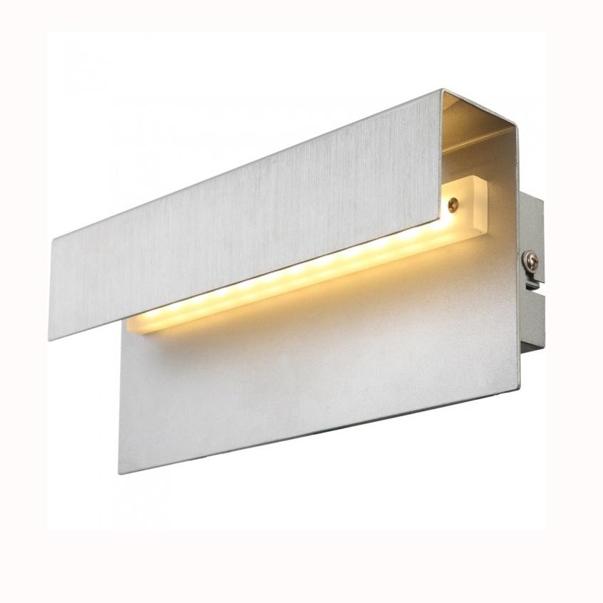 Бра GloboНастенные светильники и бра<br>Тип: настенный,<br>Назначение светильника: для комнаты,<br>Стиль светильника: модерн,<br>Материал светильника: металл,<br>Тип лампы: светодиодная,<br>Количество ламп: 1,<br>Мощность: 6,<br>Патрон: LED,<br>Цвет арматуры: белый,<br>Длина (мм): 100,<br>Высота: 250,<br>Диаметр: 70<br>