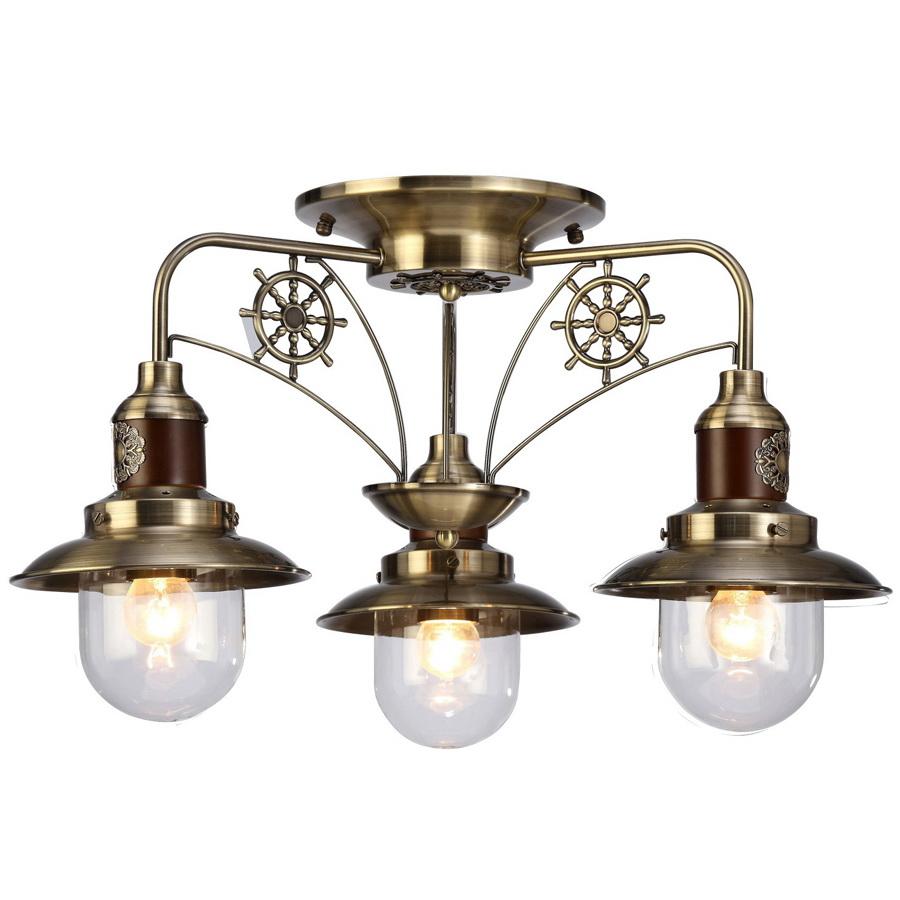 Люстра Arte lampЛюстры<br>Назначение светильника: для комнаты,<br>Стиль светильника: классика,<br>Тип: потолочная,<br>Материал светильника: металл, стекло, дерево,<br>Материал арматуры: металл,<br>Длина (мм): 600,<br>Ширина: 600,<br>Высота: 340,<br>Количество ламп: 3,<br>Тип лампы: накаливания,<br>Мощность: 60,<br>Патрон: Е27,<br>Цвет арматуры: бронза<br>