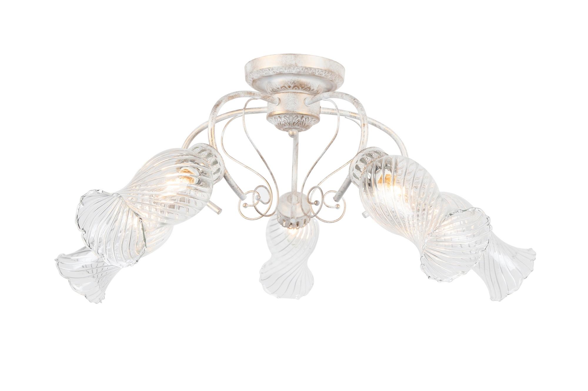 Люстра Arte lampЛюстры<br>Назначение светильника: для комнаты, Стиль светильника: классика, Тип: потолочная, Материал светильника: металл, стекло, Материал плафона: стекло, Материал арматуры: металл, Длина (мм): 780, Ширина: 780, Высота: 330, Количество ламп: 3, Тип лампы: накаливания, Мощность: 40, Патрон: Е14, Цвет арматуры: белый, Родина бренда: Италия, Коллекция: gemma 6335<br>