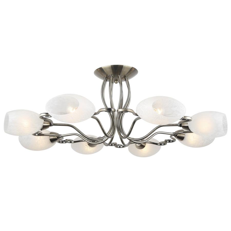 Люстра Arte lampЛюстры<br>Назначение светильника: для комнаты,<br>Стиль светильника: модерн,<br>Тип: потолочная,<br>Материал светильника: металл, стекло,<br>Материал плафона: стекло,<br>Материал арматуры: металл,<br>Длина (мм): 860,<br>Ширина: 860,<br>Высота: 280,<br>Количество ламп: 8,<br>Тип лампы: накаливания,<br>Мощность: 40,<br>Патрон: Е14,<br>Цвет арматуры: бронза<br>