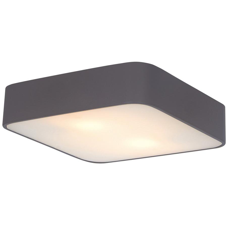 Светильник настенно-потолочный Arte lampСветильники настенно-потолочные<br>Мощность: 60,<br>Количество ламп: 2,<br>Назначение светильника: для комнаты,<br>Стиль светильника: модерн,<br>Материал светильника: металл, стекло,<br>Тип лампы: накаливания,<br>Длина (мм): 300,<br>Ширина: 300,<br>Высота: 80,<br>Патрон: Е27,<br>Цвет арматуры: черный<br>