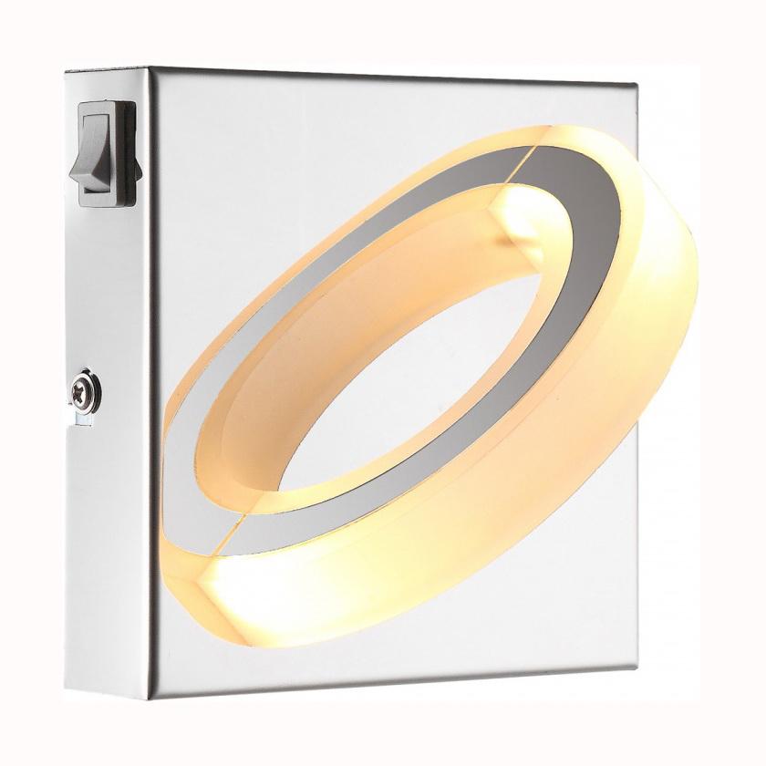 Светильник настенно-потолочный GloboСветильники настенно-потолочные<br>Мощность: 5,<br>Количество ламп: 1,<br>Назначение светильника: для комнаты,<br>Стиль светильника: современный,<br>Материал светильника: металл, стекло,<br>Тип лампы: светодиодная,<br>Длина (мм): 100,<br>Ширина: 130,<br>Высота: 130,<br>Патрон: LED,<br>Цвет арматуры: белый<br>