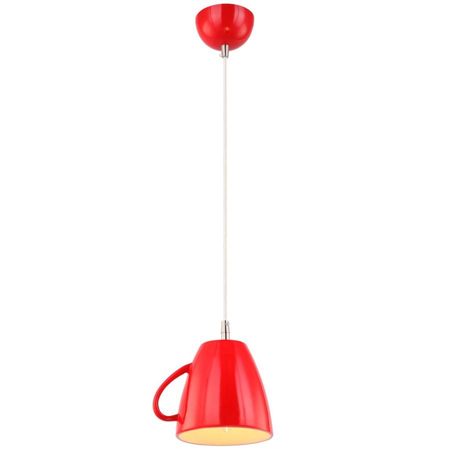 Подвес Arte lampСветильники подвесные<br>Количество ламп: 1,<br>Мощность: 40,<br>Назначение светильника: для комнаты,<br>Стиль светильника: современный,<br>Материал светильника: металл, пластик,<br>Высота: 180,<br>Длина (мм): 190,<br>Ширина: 150,<br>Тип лампы: накаливания,<br>Патрон: Е14,<br>Цвет арматуры: красный<br>