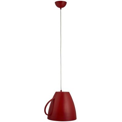 Подвес Arte lampСветильники подвесные<br>Количество ламп: 1, Мощность: 40, Назначение светильника: для комнаты, Стиль светильника: современный, Материал светильника: металл, Высота: 300, Длина (мм): 360, Ширина: 300, Тип лампы: накаливания, Патрон: Е27, Цвет арматуры: красный, Коллекция: cafeteria 6601<br>