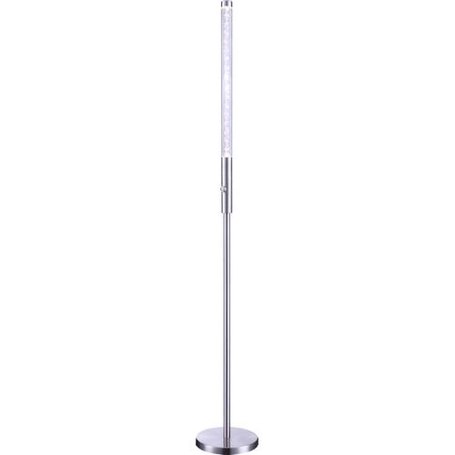 Торшер GloboТоршеры<br>Стиль светильника: модерн,<br>Назначение светильника: для комнаты,<br>Материал светильника: металл/пластик,<br>Длина (мм): 230,<br>Ширина: 230,<br>Высота: 1600,<br>Количество ламп: 1,<br>Тип лампы: светодиодная,<br>Мощность: 6.5,<br>Патрон: LED,<br>Цвет арматуры: серебристый<br>